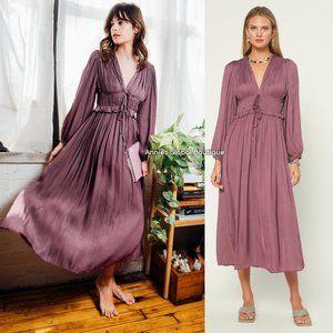 RARE NWT ANTHROPOLOGIE Sidonie Pleated Midi Dress